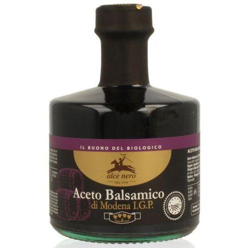 Ocet balsamiczny z modeny premium bio 250 ml - alce nero marki Alce nero (włoskie produkty)