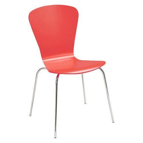 Krzesło do stołówki MILLA, sztaplowane, czerwony, 136763