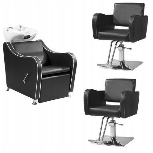 Hnb Zestaw mebli fryzjerskich miami - myjnia + 2 fotele
