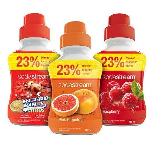 Sodastream  syropy grejpfrutowy, malinowy i retro cola 750 ml (8590669179510)