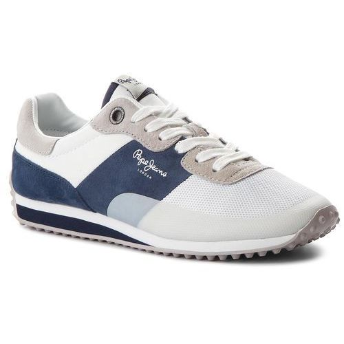 Pepe jeans Sneakersy - garret sailor pms30405 white 800