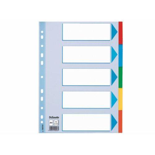 ESSELTE Przekładki z kolorowego kartonu z kartą opisową A4 5 kart