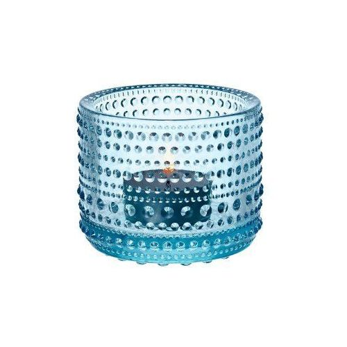 Iittala Kastehelmi świecznik na tealight, błękitny -