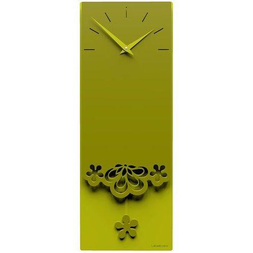 Zegar ścienny z wahadłem merletto oliwkowo-zielony (56-11-1-54) marki Calleadesign