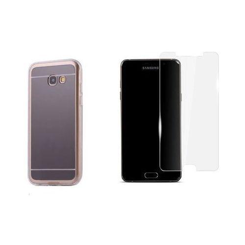Zestaw   Slim Mirror Case Szary   Etui + Szkło ochronne Perfect Glass dla modelu Samsung Galaxy A5 2017