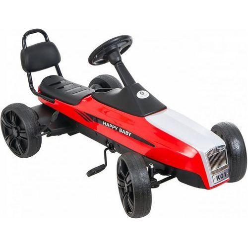 Gokart na pedały KIDZ MOTION RETRO jeździk dla dzieci 5-12 lat Czerwony + DARMOWY TRANSPORT! (5906395302925)