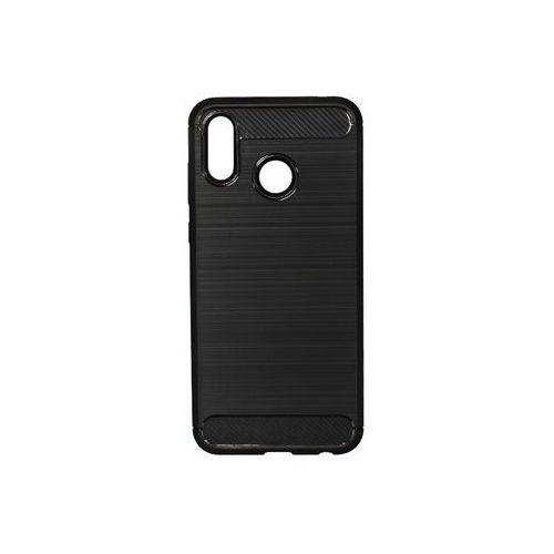 Huawei Honor Play - etui na telefon Forcell Carbon - czarny, kolor czarny