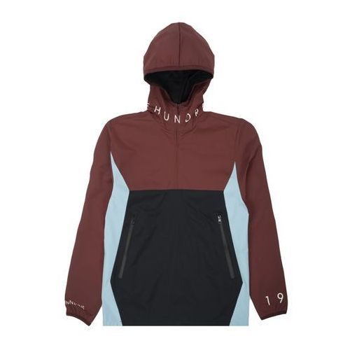 Kurtka The Hundreds - Anchor Anorak Burgundy - Bordo-Błękit, nylon