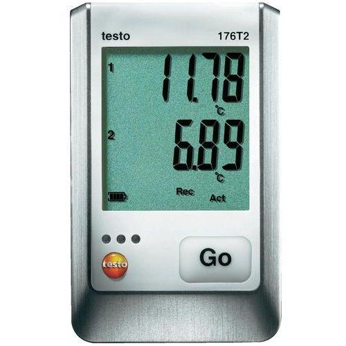 Testo Rejestrator temperatury  176 t2 0572 1762 kalibracja fabryczna (bez certyfikatu)