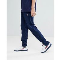 Fila vintage track joggers with poppers in navy - navy