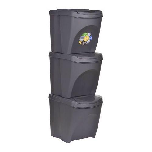 Prosperplast kosz na odpady 3 x 25 l szary (5905197985749)