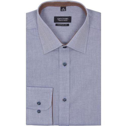Koszula bexley 2313 długi rękaw custom fit niebieski, Recman