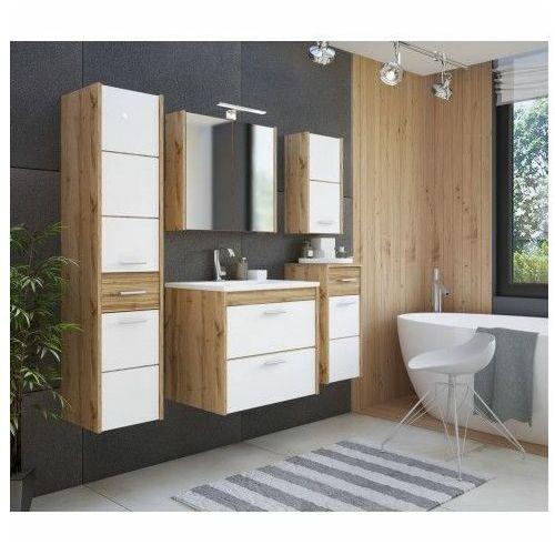 Producent: elior Komplet wiszących szafek łazienkowych - madryt 2q biały