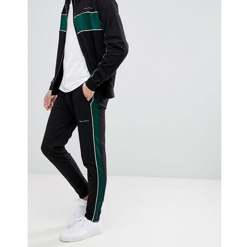 Bellfield panelled track jogger in straight fit with side stripe - multi