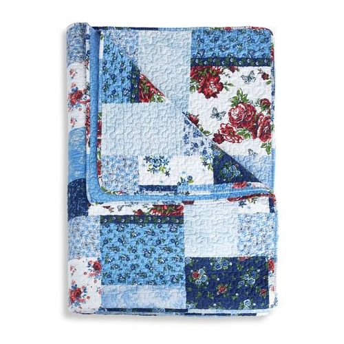 "Narzuta ""patchwork"" niebieski marki Bonprix"