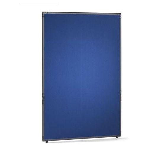 Ścianka działowa, filc, rama w kolorze szarym łupkowym, niebieski, wys. x szer.