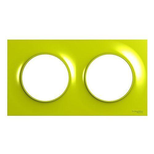 Ramka podwójna Schneider Electric Odace żółta (3606481212337)