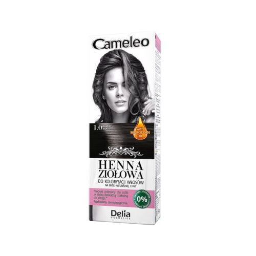 cameleo 1.0 czerń henna ziołowa do koloryzacji włosów marki Delia cosmetics