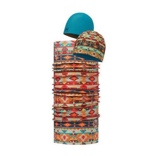 Zestaw:  czapka dwustronna z microfibry trivit multi + chusta original buff trivit multi od producenta Buff