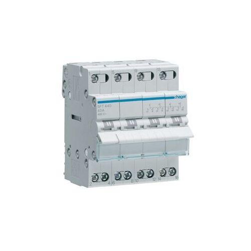 Hager Hager Modułowy przełącznik instalacyjny z poz. centralnej HAGER SFT440 I-0-II (4P 40A 400VAC) SFT440 - Rabaty za ilości. Szybka wysyłka. Profesjonalna pomoc techniczna. (3250615510945)