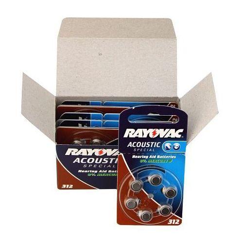 600 x baterie do aparatów słuchowych acoustic special 312ae marki Rayovac