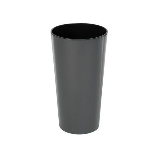 Doniczka plastikowa 19 cm antracytowa LILIA LAMELA