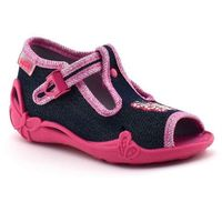 Kapcie dziecięce 213p112 papi - różowy ||jeans marki Befado