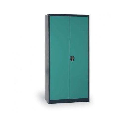 Szafa metalowa, 1950x800x400 mm, 4 półki, antracyt/zielony