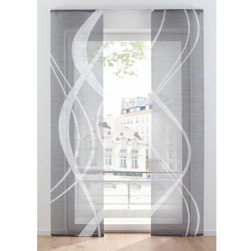 Firana panelowa z graficznym cyfrowym nadrukiem (2 szt.) bonprix szaro-biały