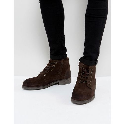 Selected Homme Trevor Suede Lace Up Boots In Brown - Brown
