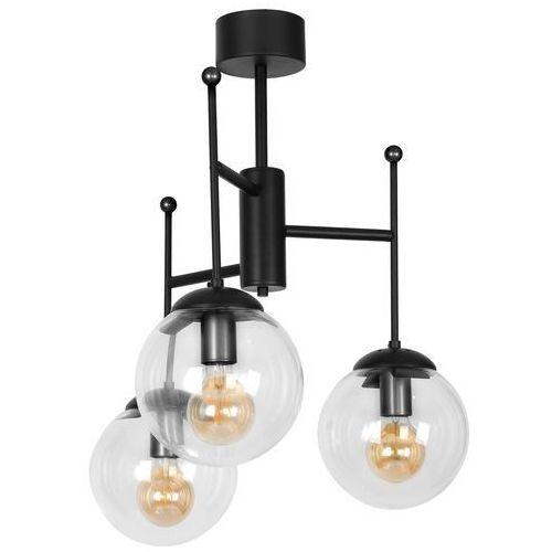 Luminex hamar 1132 lampa sufitowa żyrandol 3x60w e27 czarny (5907565911329)