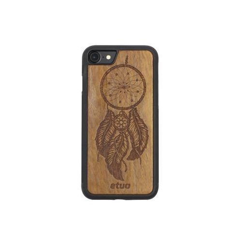 Apple iphone 8 - etui na telefon wood case - łapacz snów - imbuia marki Etuo wood case