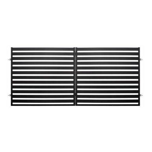 Brama dwuskrzydłowa Polbram Steel Group Lara 2 350 x 154 cm czarna (5901122310433)