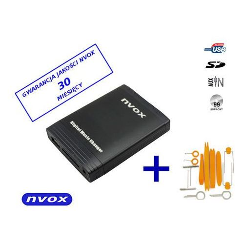 NVOX NV1086M HYUNDAI 8PIN Zmieniarka cyfrowa emulator MP3 USB SD HYUNDAI KIA 8PIN (5909182420277)