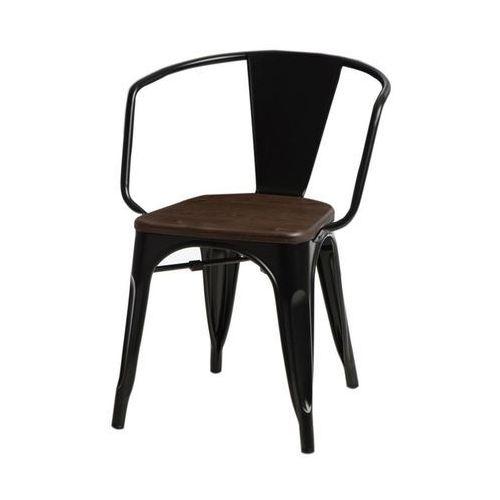 Krzesło Paris Arms Wood czarne sosna orz ech (5902385716239)