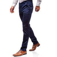Spodnie wizytowe męskie niebieskie denley 7623 marki Red polo