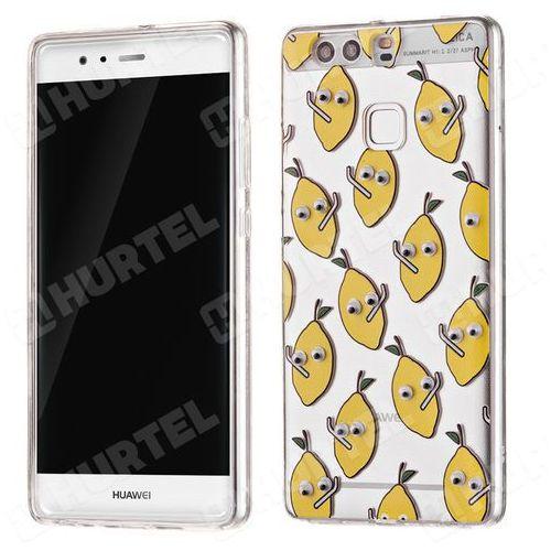 Żelowy pokrowiec etui oczy Googly Eyes Huawei P9 cytryny przezroczysty - cytryny, kup u jednego z partnerów
