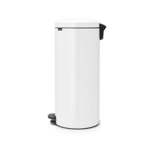 Kosz na śmieci pedałowy NewIcon 30l z metalowym wiaderkiem biały