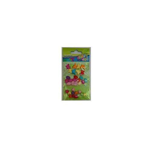 Craft with fun Ozdoba dekoracyjna koraliki plastikowe mix (5901350244012)