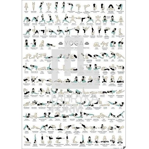Plakat yoga, follygraph-yoga