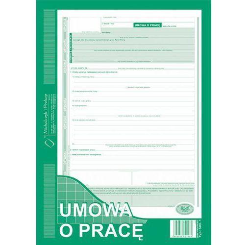 Umowa o prace michalczyk&prokop 500-1 - a4 (oryginał+kopia) marki Michalczyk i prokop