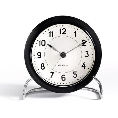 Zegar stołowy Arne Jacobsen Station czarno-biały (5709513436720)