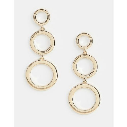 Missguided triple circle drop earring in gold - Gold