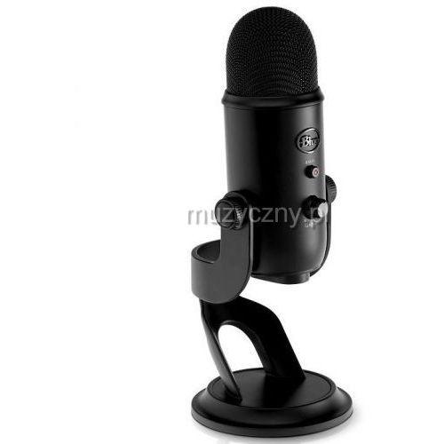 yeti blackout mikrofon pojemnościowy usb, wyjście słuchawkowe, kolor czarny marki Blue microphones