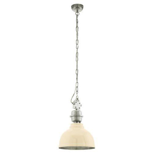 Eglo Lampa wisząca grantham 49172 metalowa oprawa zwis ip20 kopuła beżowa