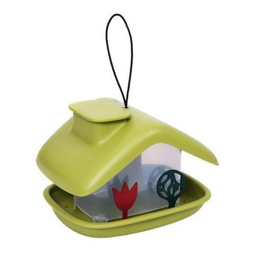 Karmnik plastikowy domek zielony (8590415007937)