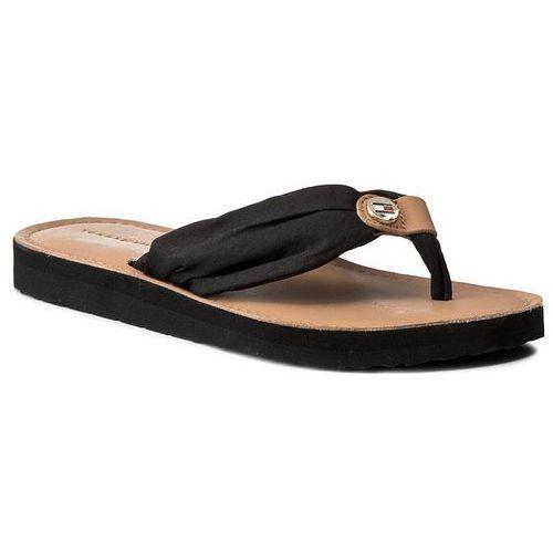 99b6ef5ba15de Klapki damskie · Japonki TOMMY HILFIGER - Leather Footbed Beach Sandal  FW0FW00475 Black 990
