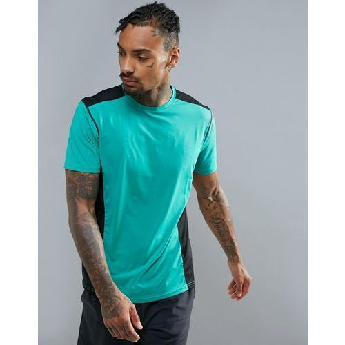 New Look SPORT Cut And Sew T-Shirt In Green - Green