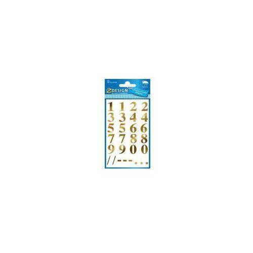 Naklejki odporne na pogodę - numery złote (4004182591284)