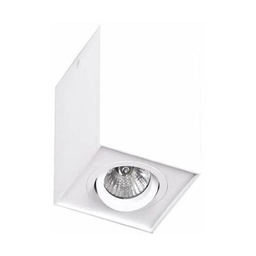 Spot LAMPA sufitowa BASIC SQUARE C0070 Maxlight natynkowa OPRAWA metalowa kostka cube biała (1000000356953)